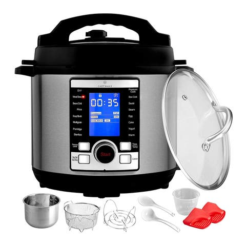 ChefWave Swift Pot Programmable Pressure Cooker with Accessories