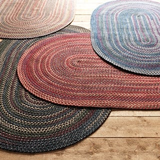 Link to Copper Grove Colville Multi-colored Reversible Braided Rug Similar Items in Rustic Rugs