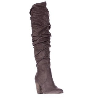 Carlos by Carlos Santana Hazey Over The Knee Slouch Boots - Dark Stone