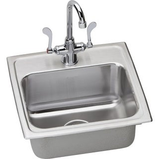 "Elkay LRAD171665SC 17"" Single Basin Drop-In Stainless Steel Bar Sink with Commer"