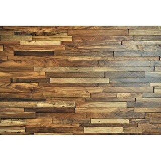 "Sierra Buttes - 9-1/2"" x 53"" Rectangular Engineered Acacia Wood Paneling - Sold by Carton (18.8 SF/Carton) - N/A"