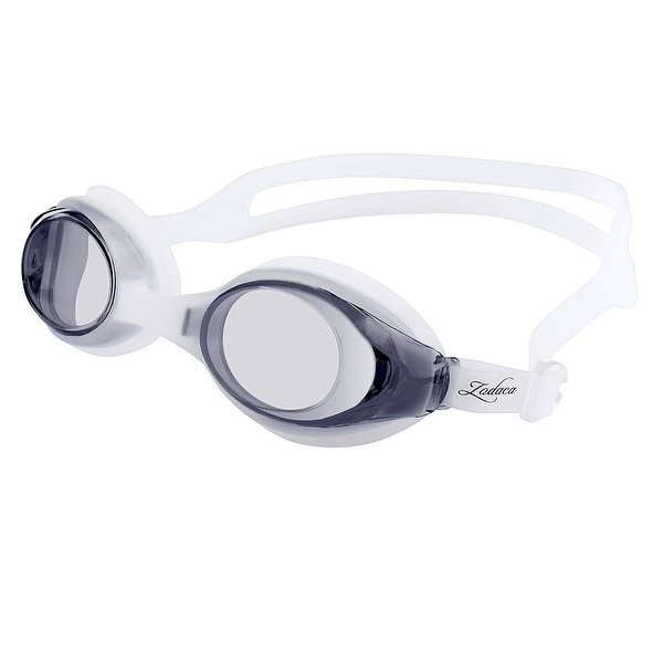 Zodaca Black/ White Non-Fogging Water Sports Swimming Goggles for Kids