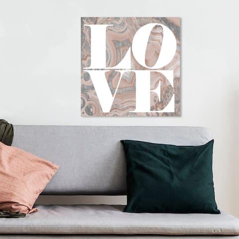 Oliver Gal 'Geode Love shades White' White Wall Art Canvas Print