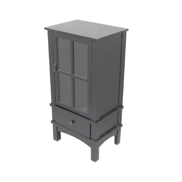 Glass Kitchen Cabinet Door Inserts: Shop 1-Door, 1-Drawer Accent Cabinet W/ Paned Glass