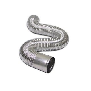 "Lambro 3020 Flexible Aluminum Duct With Connecting Ends, 4"" x 8'"