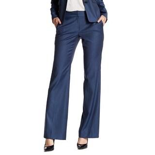 Classiques Entier Blue Womens Size 10 Stretch Flare Suit Pants