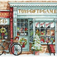 """Gold Petite Toy Shoppe Counted Cross Stitch Kit-6""""X6"""" 18 Count"""