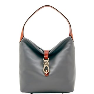 Dooney & Bourke Wexford Leather Small Logo Lock Sac (Introduced by Dooney & Bourke at $248 in Jun 2017) - charcoal
