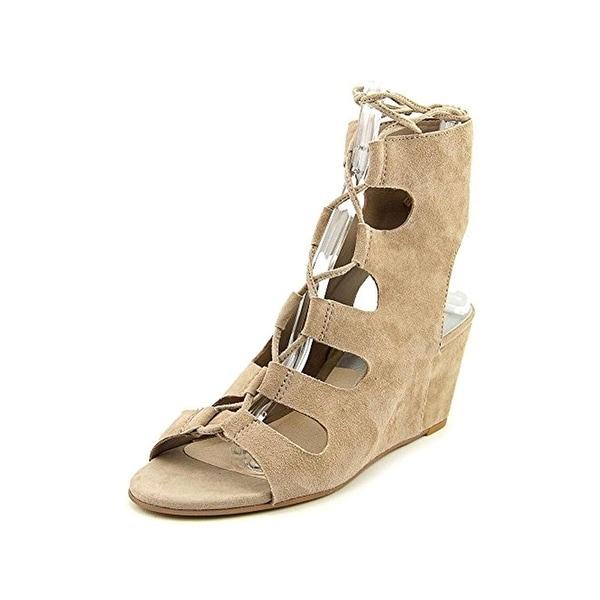 Dolce Vita Womens Louise Wedge Sandals Suede Open Toe - 10 medium (b,m)