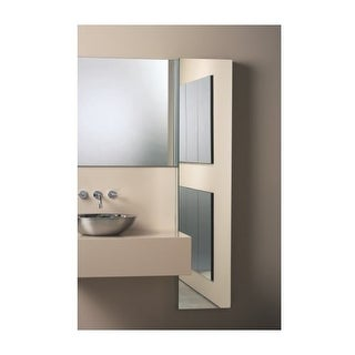 "Robern MC1670D4FPRE2 M Series 16"" x 70"" x 4"" Flat Plain Single Door Medicine Cabinet with Right Hinge, Integrated Outlets, and"