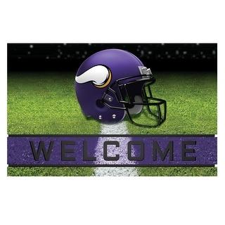 NFL Minnesota Vikings Heavy Duty Crumb Rubber Door Mat N A