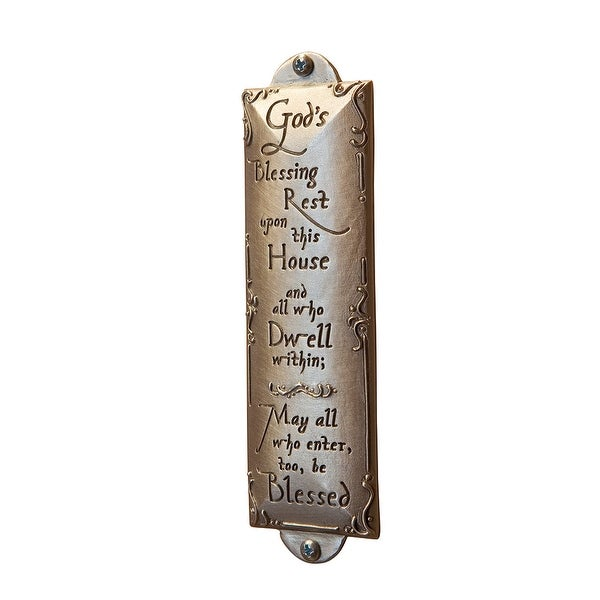 God's Blessing Rest on this House Pewter Plaque or Sign