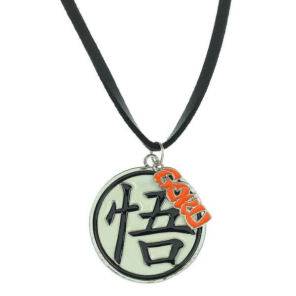 Shop Dragon Ball Z Anime Gokus Kanji Symbol Pendant Leather