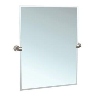 Gatco 4119S Zone 23-1/2 Inch Beveled Edge Tilting Rectangular Wall Mirror