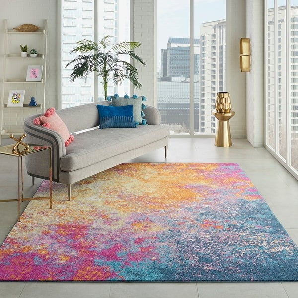 Nourison Passion Colorful Modern Abstract Area Rug. Opens flyout.