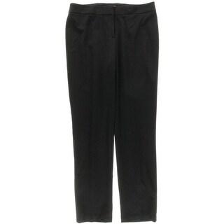 Kasper Womens Ponte Flat Front Dress Pants