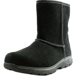 Ugg Australia Lynden Youth Round Toe Suede Black Winter Boot