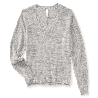 Aeropostale Womens Dolman V-Neck Pullover Sweater