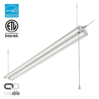 4ft Linkable LED Shop Light, 2-Tube T8 LED, 40W, 4000K Cool White
