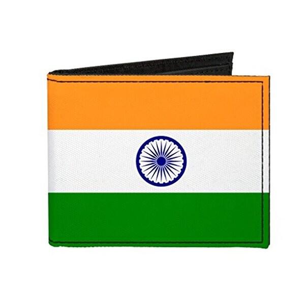 Buckle-Down Canvas Bi-fold Wallet - India Flag Accessory