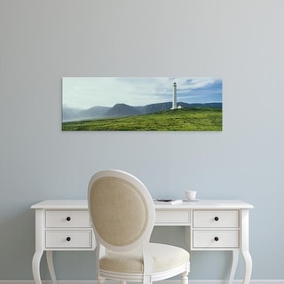 Easy Art Prints Panoramic Images's 'Lighthouse, Kalaupapa National Historical Park, Molokai, Hawaii' Canvas Art