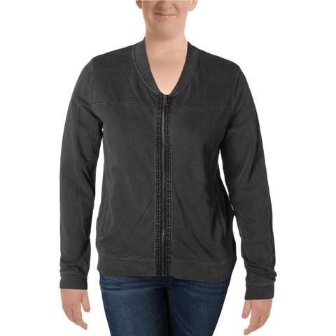 Roxy Womens Juniors Jacket Quilted Ribbed Trim - XL