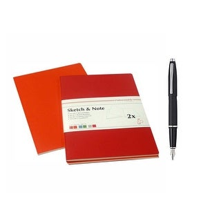 Hahnemühle Sketch and Note Booklets with Cross Fountain Pen (Matte Black) Bundle