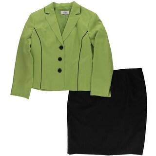Le Suit Womens Skirt Suit 2 PC Colorblock