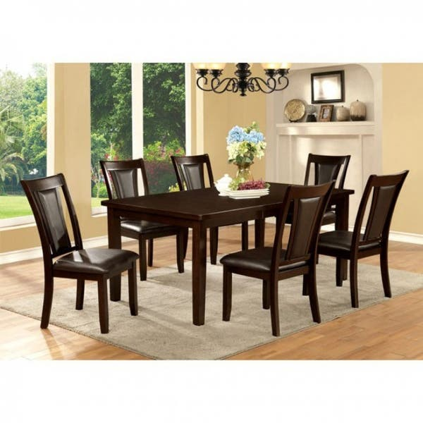 Emmons I Transitional Dining Table With 18 Leaf Dark Cherry Overstock 18020764