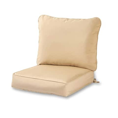 Elmington Deep Seat 25-inch Outdoor Back and Seat Cushion Set by Havenside Home