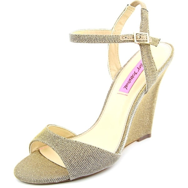 Betsey Johnson Duane Women Gold Sandals