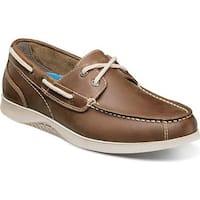 Nunn Bush Men's Bayside Lites Two Eye Boat Shoe Brown Leather