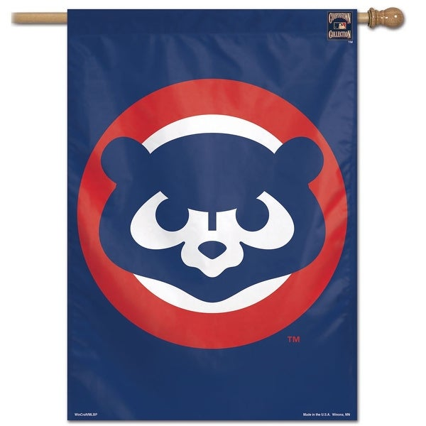 """Chicago Cubs Cooperstown 28"""" x 40"""" Vertical Flag"""