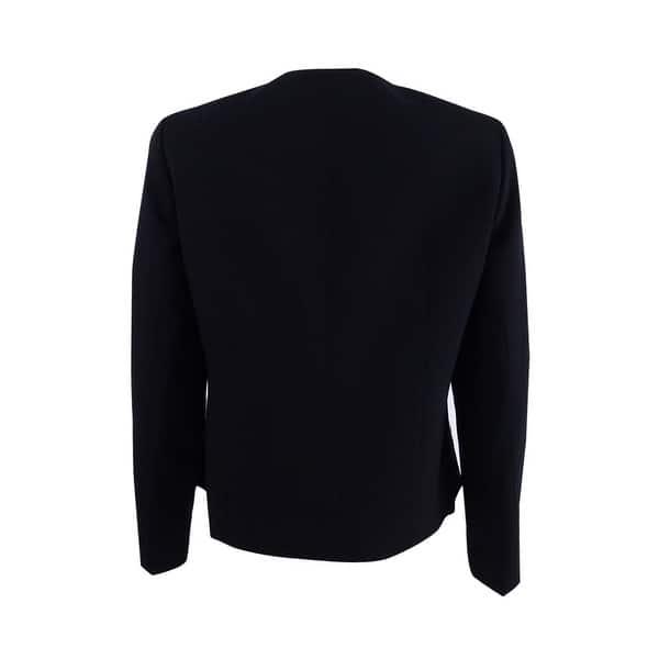 Black//White Tahari ASL Women/'s Colorblocked Blazer 2