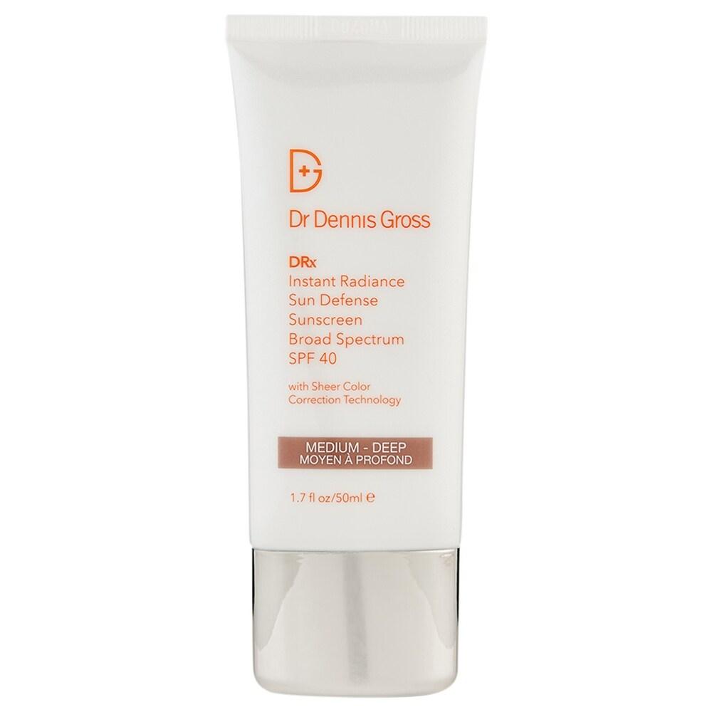 Dr. Dennis Gross Instant Radiance SPF 40 Medium-Deep 1.7 oz/50 ml (White - Facial Sunscreen)