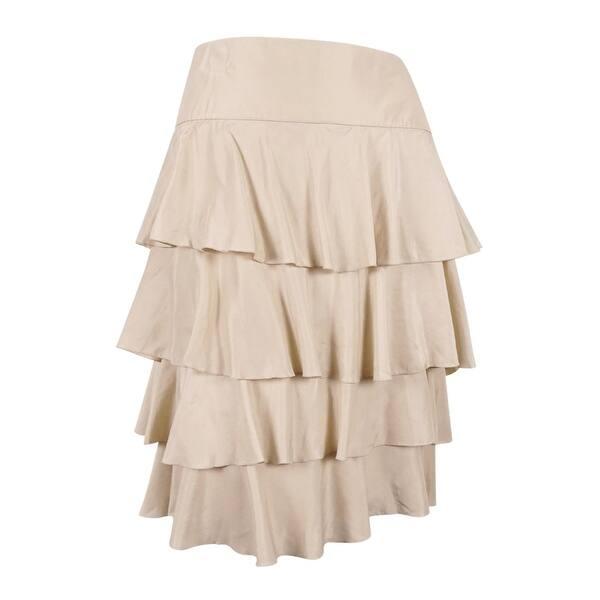 b43ffc15be409 Sutton Studio Women's Tiered Ruffle Skirt - LINEN - 22W