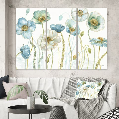 Designart 'My Greenhouse Cottage Flowers IV' Traditional Gallery-wrapped Canvas
