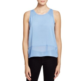 French Connection Womens Tank Top Mixed Media Sleeveless