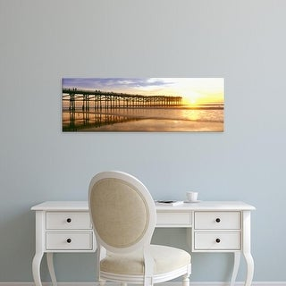 Easy Art Prints Panoramic Image 'Crystal Pier, Pacific Beach, San Diego, California' Canvas Art