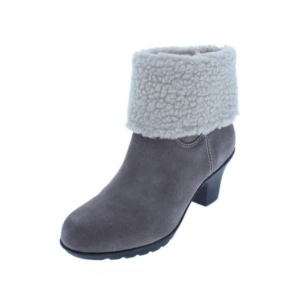 331765139d9 Shop Anne Klein Sport Womens Heward Booties Suede Faux Fur - Free ...