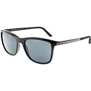 Giorgio Armani Men's Gradient AR8087-501787-56 Black Square Sunglasses
