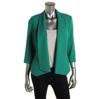Kasper Womens 3/4 Sleeves Shawl Collar Open-Front Blazer - 6