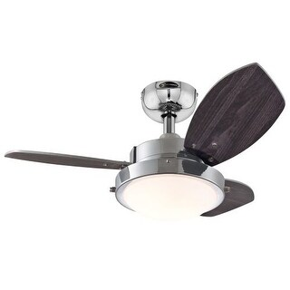 "Westinghouse 7876300 Wengue 30"" 3 Blade Hanging Indoor Ceiling Fan with Reversib"