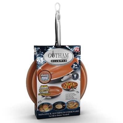 Gotham Steel Non Stick 2pk -8.5' and 9.5' Fry Pan/PFOA Free