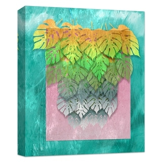 "PTM Images 9-124824  PTM Canvas Collection 10"" x 8"" - ""Monstera Love"" Giclee Leaves Art Print on Canvas"