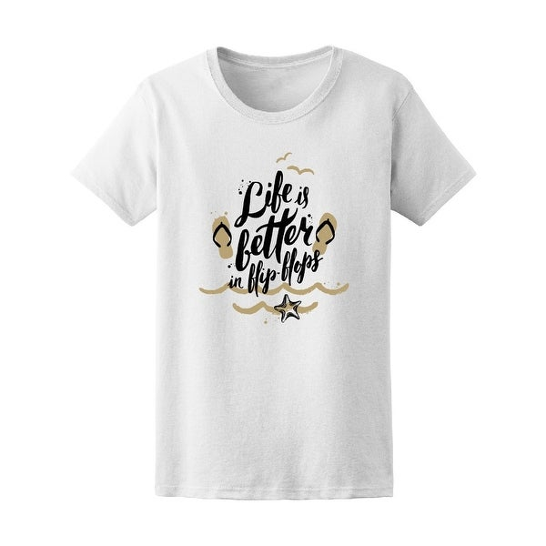 Shop Life Better In Flip Flops Summer Tee Womens Image By