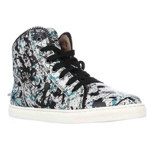 Splendid Sebastian High Top Zipper Lined Fashion Sneakers, Teal