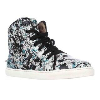Splendid Sebastian High Top Zipper Lined Fashion Sneakers - Teal