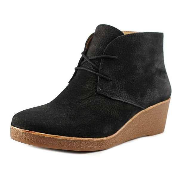 Lucky Brand Junes Round Toe Leather Bootie