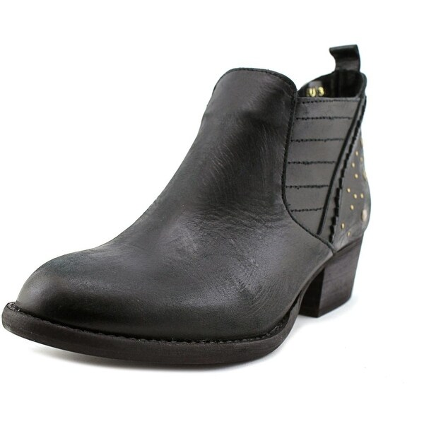 Coolway Geneva Women Round Toe Leather Bootie